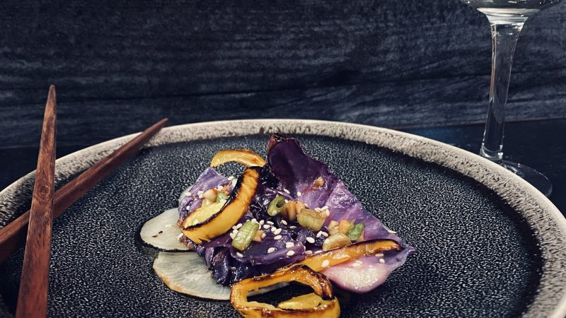 Charred Veggies with Soy-Sesame Dressing